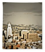 Los Angeles City Hall Fleece Blanket