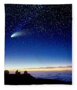 Mauna Kea Telescopes Fleece Blanket