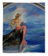 Mermaid Rainbow Wishes Fleece Blanket