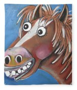 Mr Horse Fleece Blanket