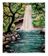 Mystical Waterfall Fleece Blanket