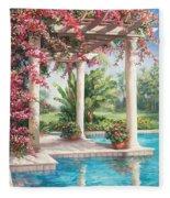 Poolside Garden Fleece Blanket