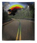 Road To Darkness Fleece Blanket