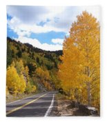 Road To Fall Fleece Blanket