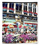 Sunny Day On The Grand Place Fleece Blanket