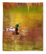 Swimming In Reflections Fleece Blanket