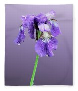 Wet Russian Iris Fleece Blanket