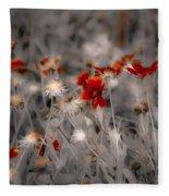 Wildflowers Of The Dunes Fleece Blanket
