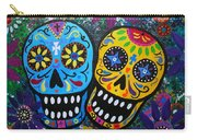 Couple Day Of The Dead Carry-all Pouch by Pristine Cartera Turkus