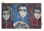 Geisha Love Triptych Carry-all Pouch
