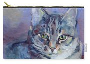 Green Eyed Tabby - Thomasina Carry-all Pouch by Kimberly Santini