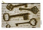 Old Keys On Letter Carry-all Pouch by Garry Gay
