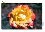 Red Tipped Yellow Rose Carry-all Pouch