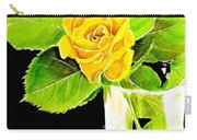 Rose In Vase Carry-all Pouch