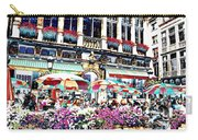 Sunny Day On The Grand Place Carry-all Pouch by Carol Groenen