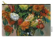 Vase Of Flowers Carry-all Pouch by Pierre Auguste Renoir
