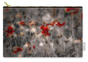Wildflowers Of The Dunes Carry-all Pouch by DigiArt Diaries by Vicky B Fuller