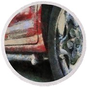 Car Rims 02 Photo Art 03 Round Beach Towel
