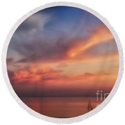 Good Morning Cape Cod Round Beach Towel