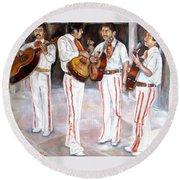 Mariachi  Musicians Round Beach Towel