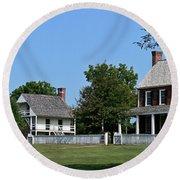 Clover Hill Tavern Appomattox Court House Virginia Round Beach Towel