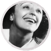 Edith Piaf Round Beach Towel