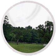 Historic Appomattox Panorama  Round Beach Towel by Teresa Mucha