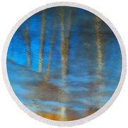 Ice Reflections Round Beach Towel