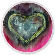 My Heavy Heart Round Beach Towel
