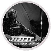 Sun Ra 1 Round Beach Towel