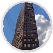 The Kollhoff-tower ...  Round Beach Towel by Juergen Weiss