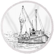 The Vessel Little Jim Round Beach Towel