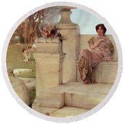 The Voice Of Spring Round Beach Towel by Sir Lawrence Alma-Tadema