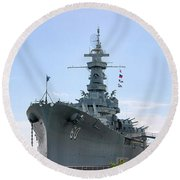 Uss Alabama Round Beach Towel