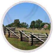 View Of Clover Hill Tavern Appomattox Court House Virginia Round Beach Towel by Teresa Mucha