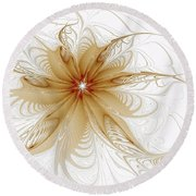 Wispy Round Beach Towel by Amanda Moore