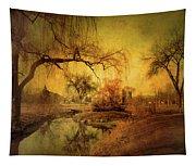 Golden Winter Days Tapestry
