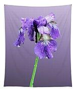 Wet Russian Iris Tapestry