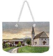 Country Church Weekender Tote Bag by Debra and Dave Vanderlaan