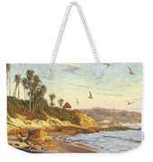 Heisler Park Rockpile At Twilight Weekender Tote Bag
