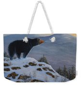 Last Look Black Bear Weekender Tote Bag