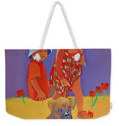 The Boxer Puppy Weekender Tote Bag