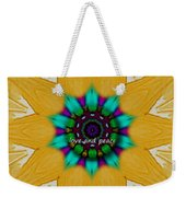 Love And Peace Art Weekender Tote Bag