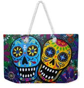 Couple Day Of The Dead Weekender Tote Bag by Pristine Cartera Turkus