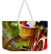 A Loaf Of Bread A Jug Of Wine And A Bike Weekender Tote Bag by Elaine Plesser