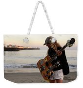 Beach Musician Weekender Tote Bag by Bob Christopher