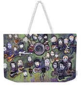 Chris Daniels And Friends Weekender Tote Bag by Laurie Maves ART