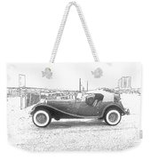 Convertible Antique Car Weekender Tote Bag