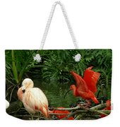 Flamingo And Scarlet Ibis Weekender Tote Bag