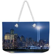 Ground Zero Tribute Lights And The Freedom Tower Weekender Tote Bag